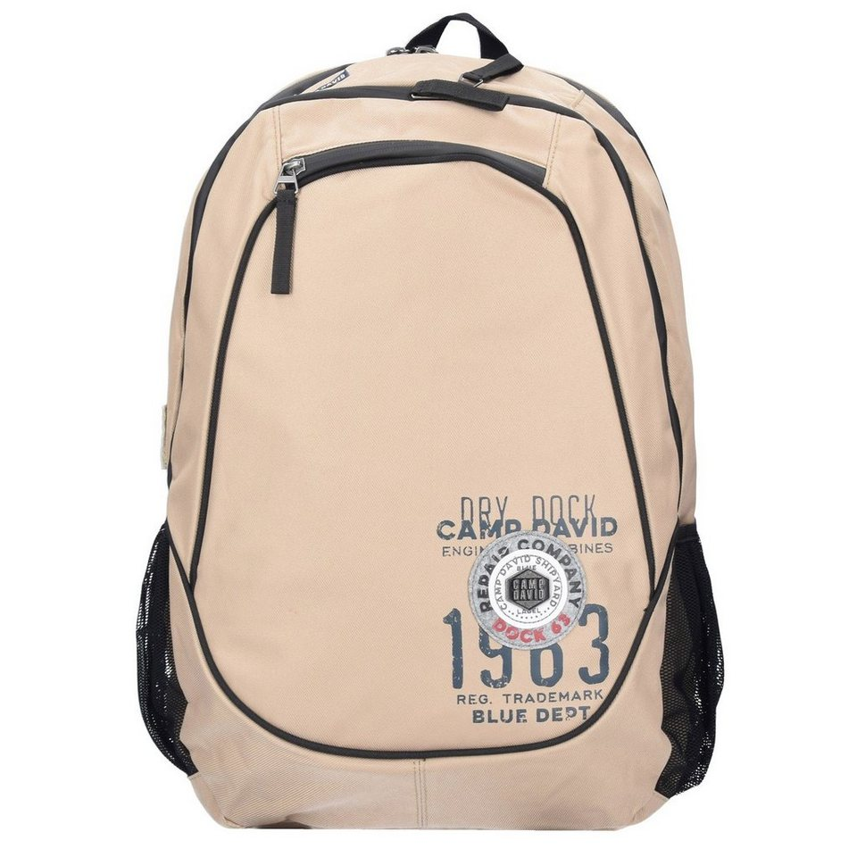 CAMP DAVID Camp David Norton Bay Rucksack 47 cm Laptopfach in sand