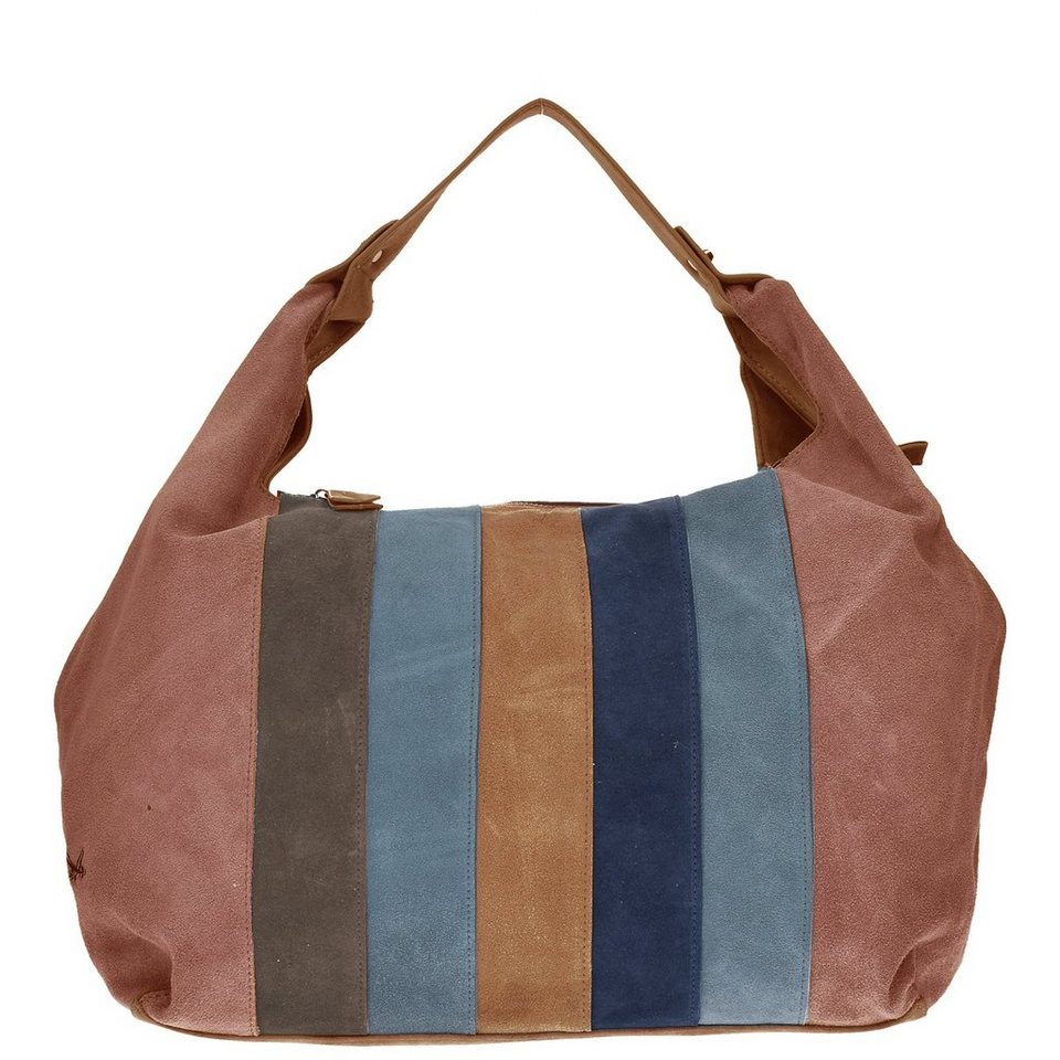 SANSIBAR Colorful Handtasche 37,5 cm in taupe