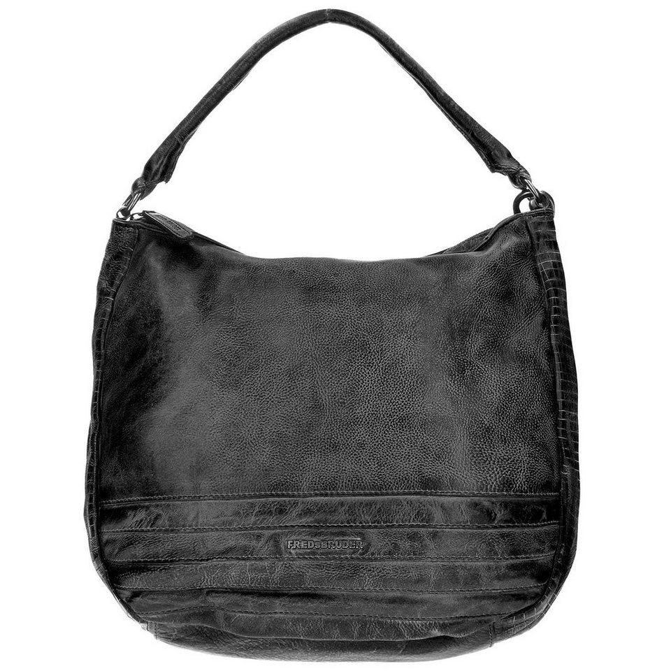 FREDsBRUDER FredsBruder Cut it Vintage Megapixel Shopper Tasche Leder 35 cm in black