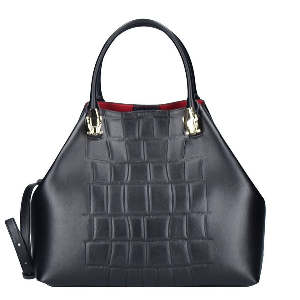Roberto Cavalli Class Pantera4ever Handtasche Leder 31 cm in black