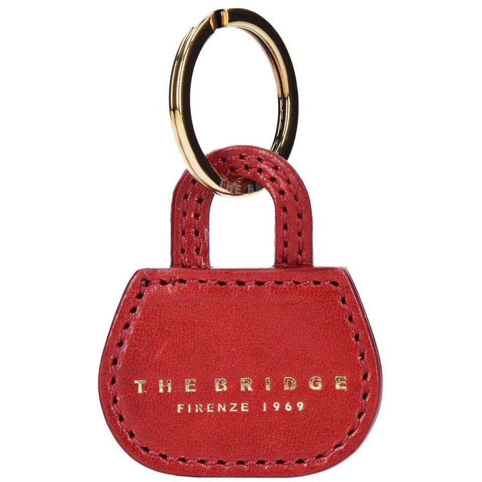 The Bridge Passpartout Donna Bag Schlüsselanhänger Leder 5 cm in rosso ribes