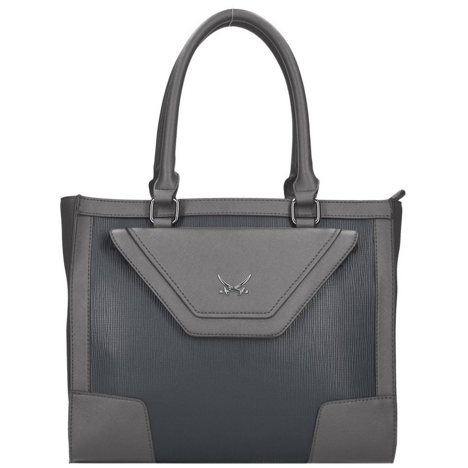 SANSIBAR Envelope Handtasche 32 cm in grey