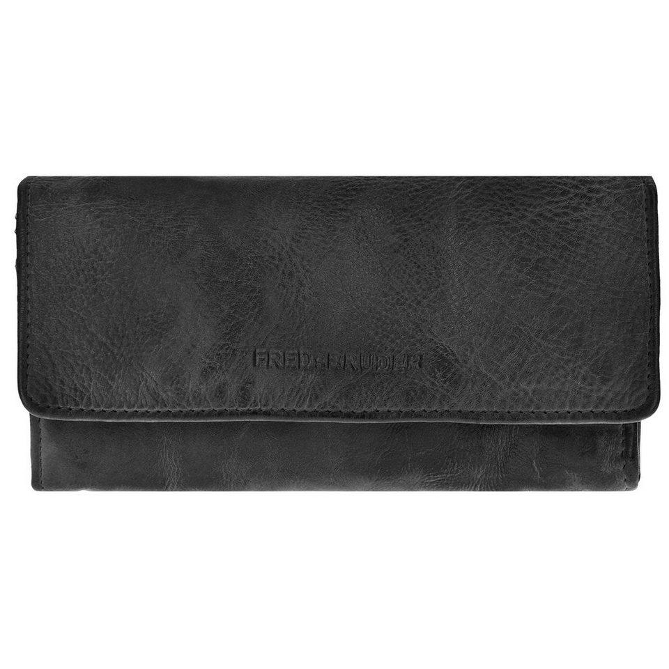 FREDsBRUDER View Wallet Geldbörse Leder 19,5 cm in black