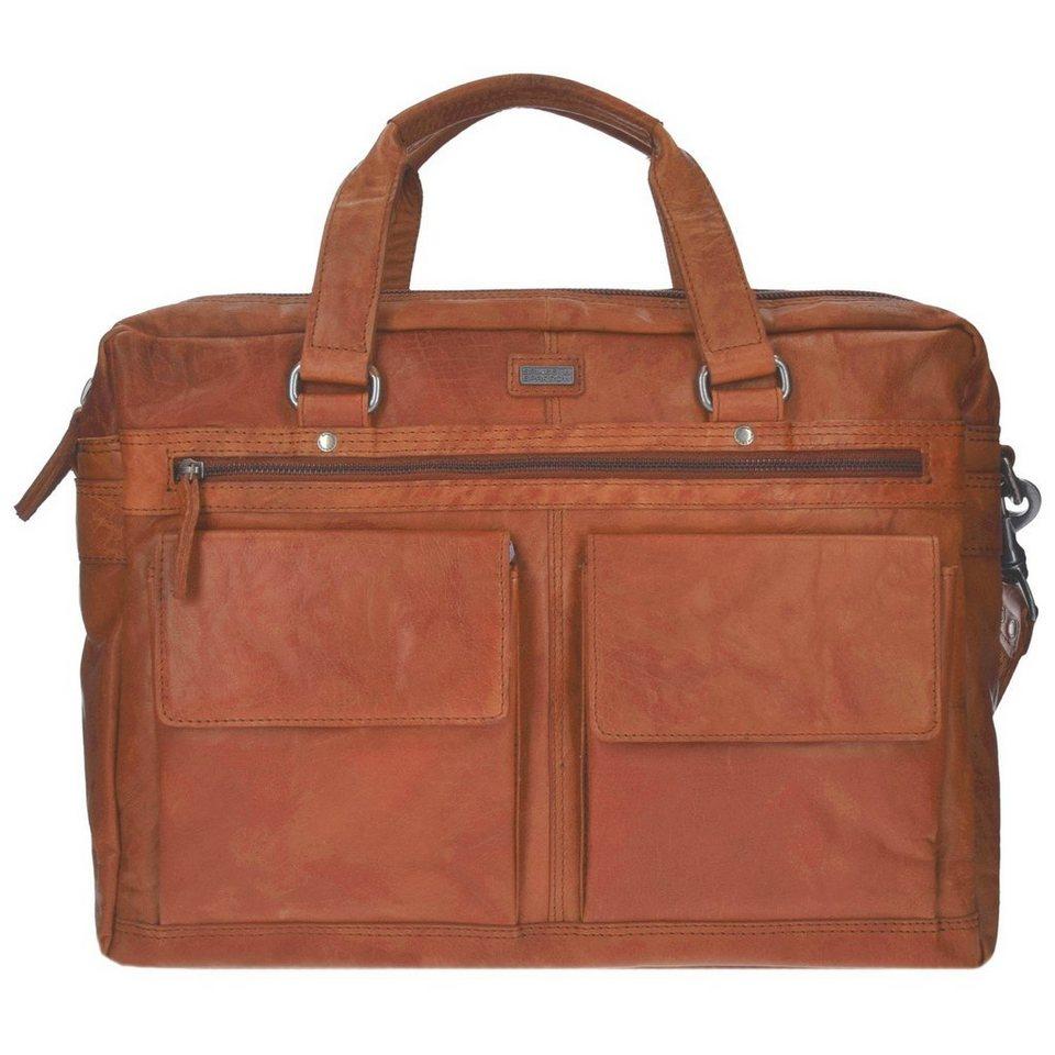 Spikes & Sparrow Bronco Aktentasche Leder 42 cm Laptopfach in brandy