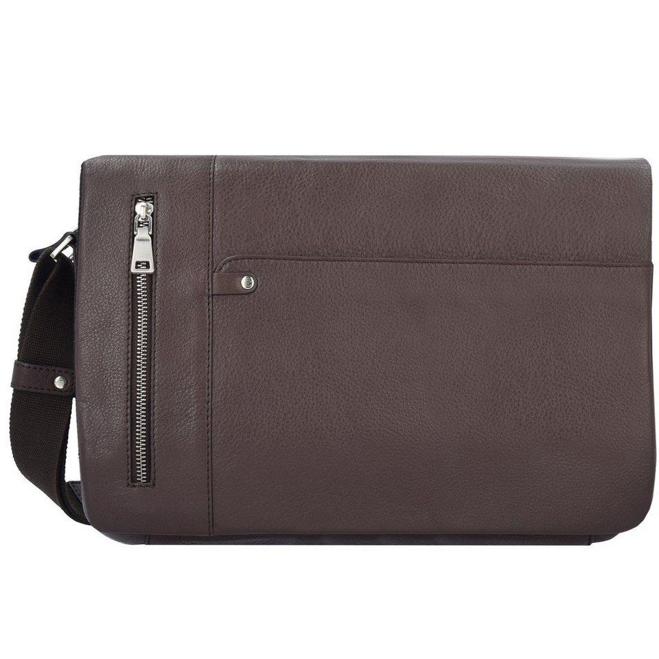 Esquire Sydney Messenger Leder 35 cm Laptopfach in braun