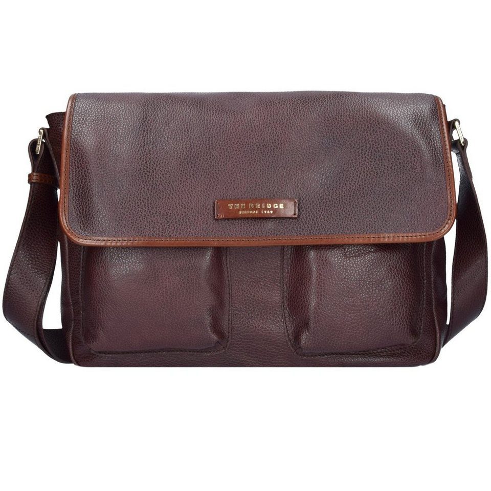 The Bridge The Bridge Plume Mix Uomo Messenger Leder 37 cm in marrone