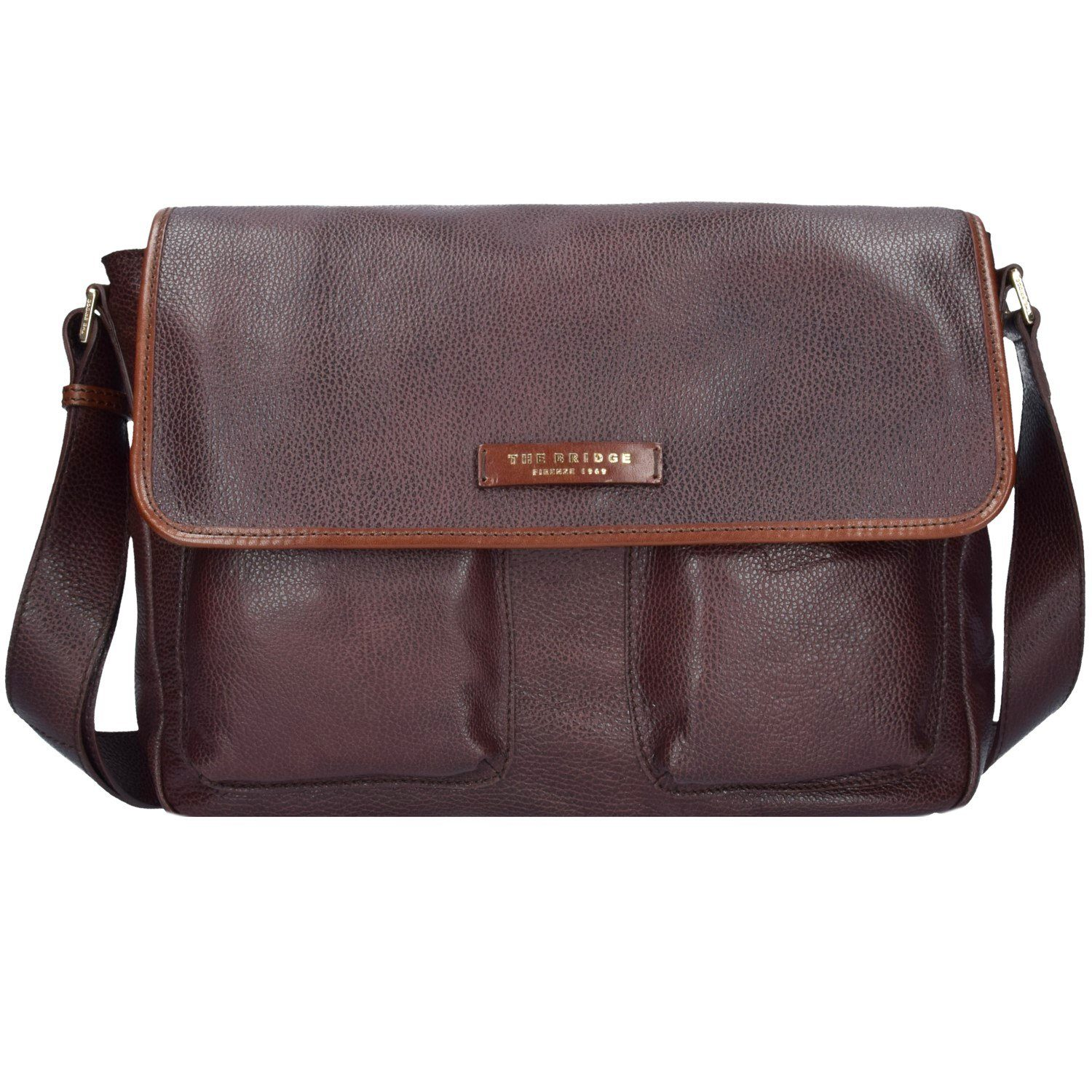 The Bridge The Bridge Plume Mix Uomo Messenger Leder 37 cm