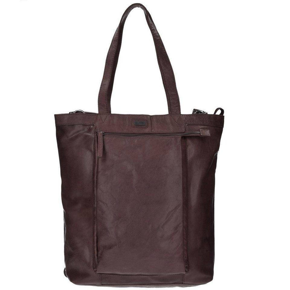 Spikes & Sparrow Spikes & Sparrow Bronco Shopper Tasche Leder 31 cm in dark brown