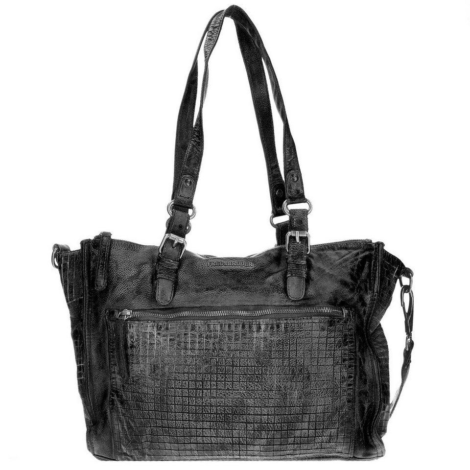 FREDsBRUDER Cut it Vintage 3D Handtasche Leder 35 cm in black