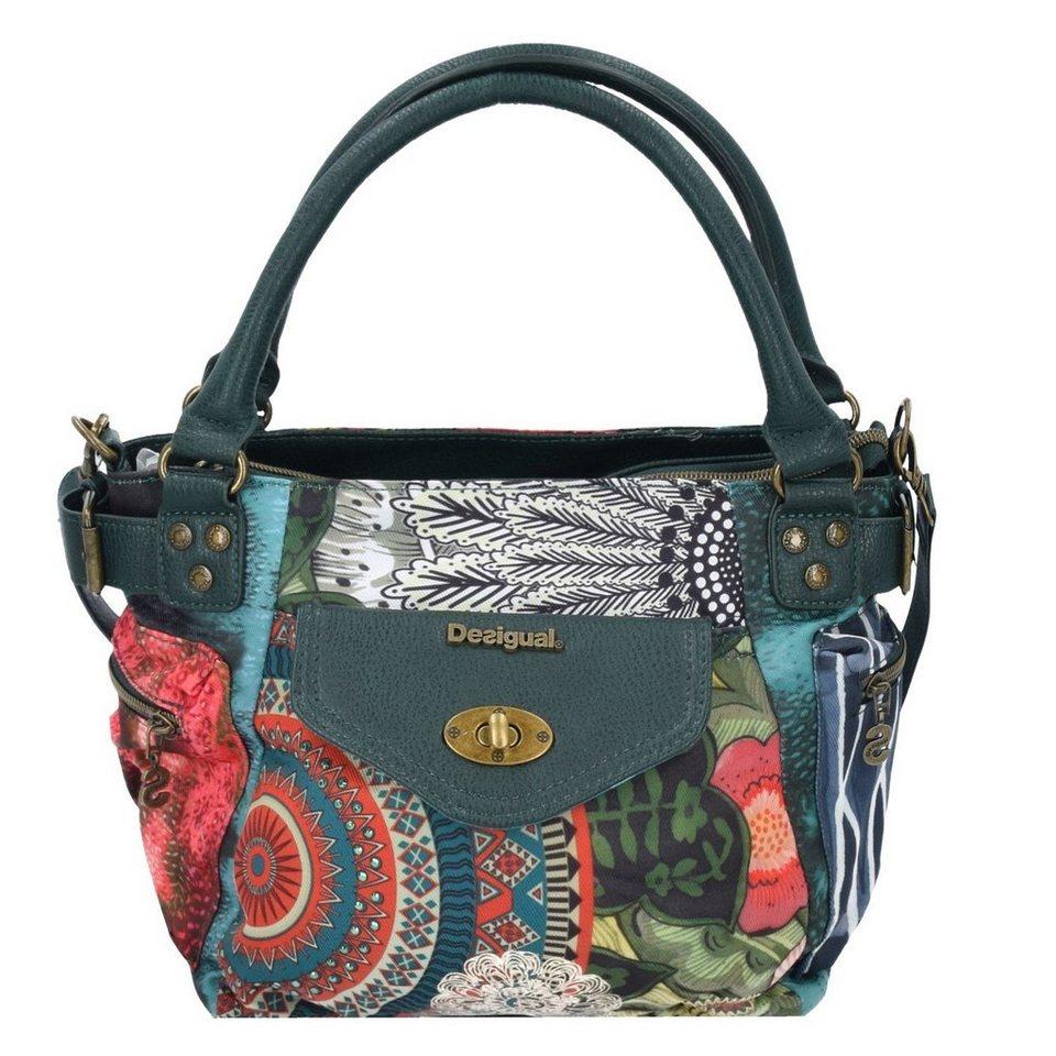 Desigual BOLS MCBee Mini Alabama Shopper Tasche 20 cm in verde oscuro