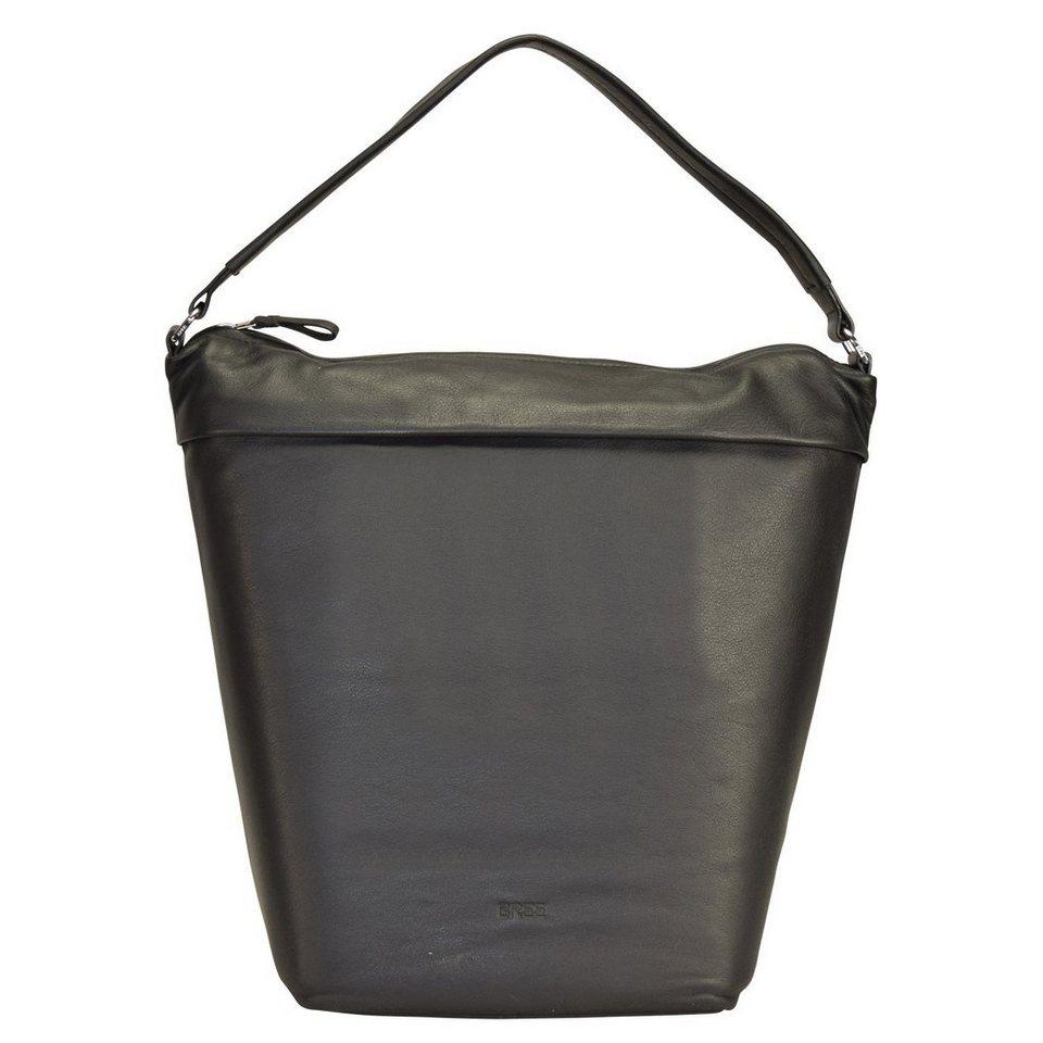 BREE Fantastic 4 Schultertasche Leder 25 cm in black