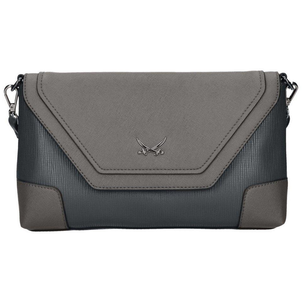 SANSIBAR Envelope Clutch Tasche 29 cm in grey