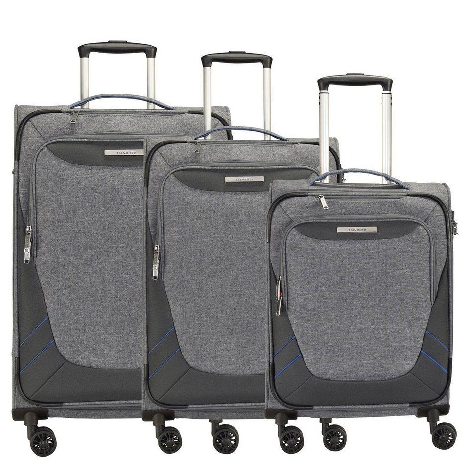 travelite Mare 4-Rollen Kofferset 3tlg. in grau