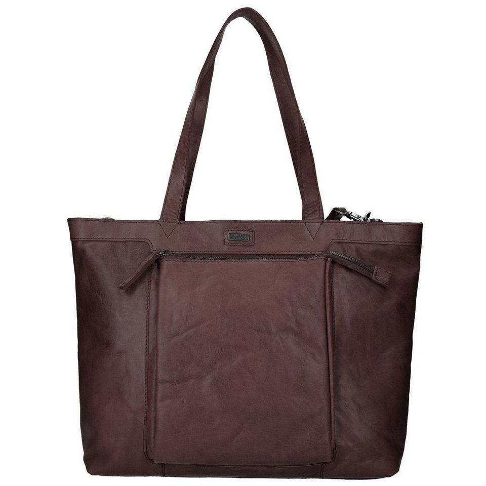 Spikes & Sparrow Spikes & Sparrow Bronco Shopper Tasche Leder 36 cm in dark brown