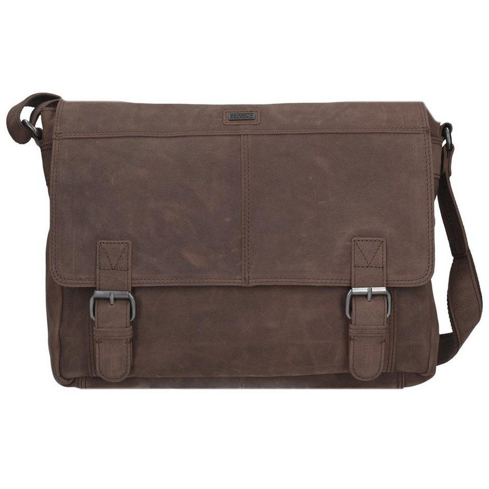 Spikes & Sparrow Alaska Messenger Bag Leder 36 cm Laptopfach in dark brown