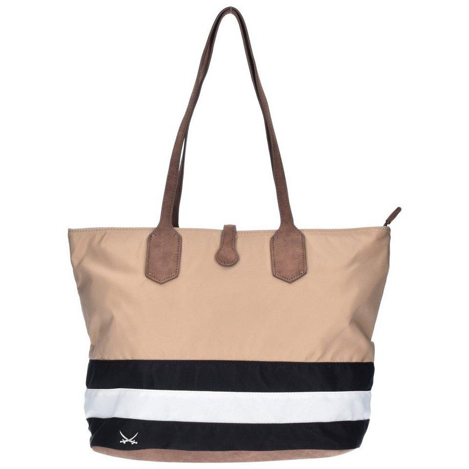 Sansibar Sansibar Smart Shopper Tasche 40 cm in black-white-taupe
