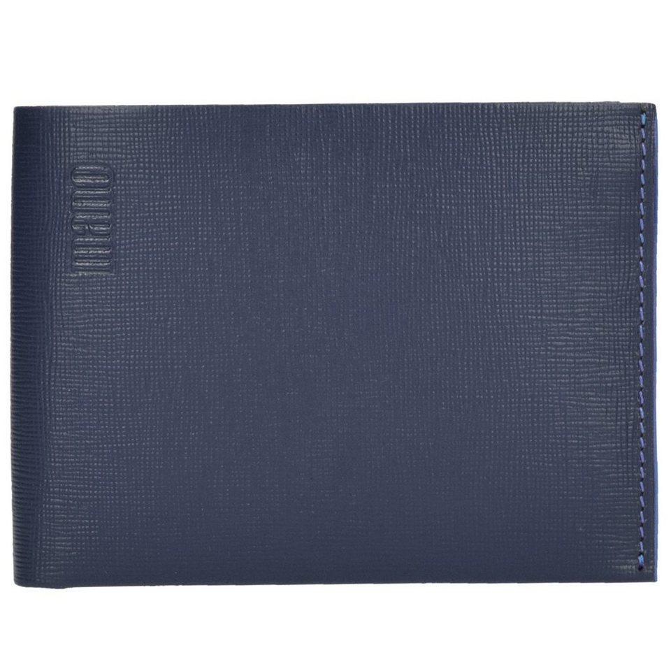 MANO Conventus Geldbörse Leder 13 cm in dunkelblau-blau