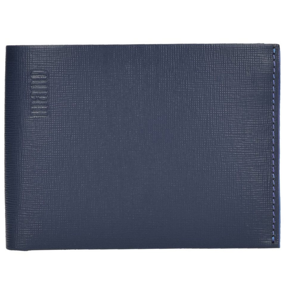 mano mano Conventus Geldbörse Leder 13 cm in dunkelblau-blau