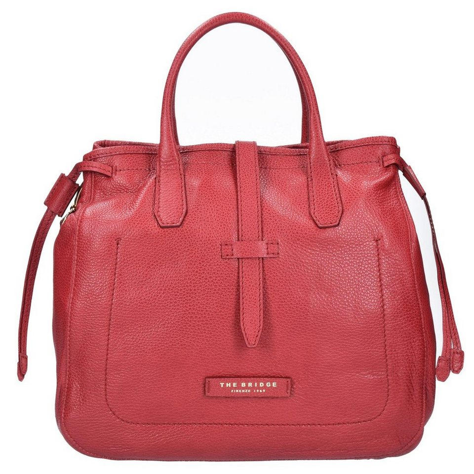 The Bridge The Bridge Plume Soft Donna Handtasche Leder 33 cm in rosso ribes