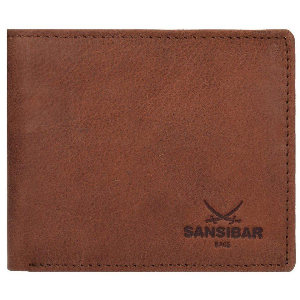 SANSIBAR Sansibar Saturnus Geldbörse Leder 11 cm in cognac
