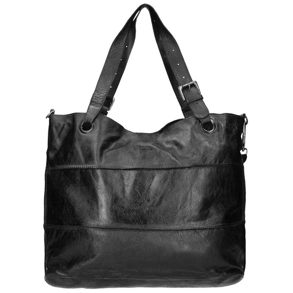 FREDsBRUDER FredsBruder Waxed Leather Shopzilla CW Shopper Tasche Leder 50 c in black