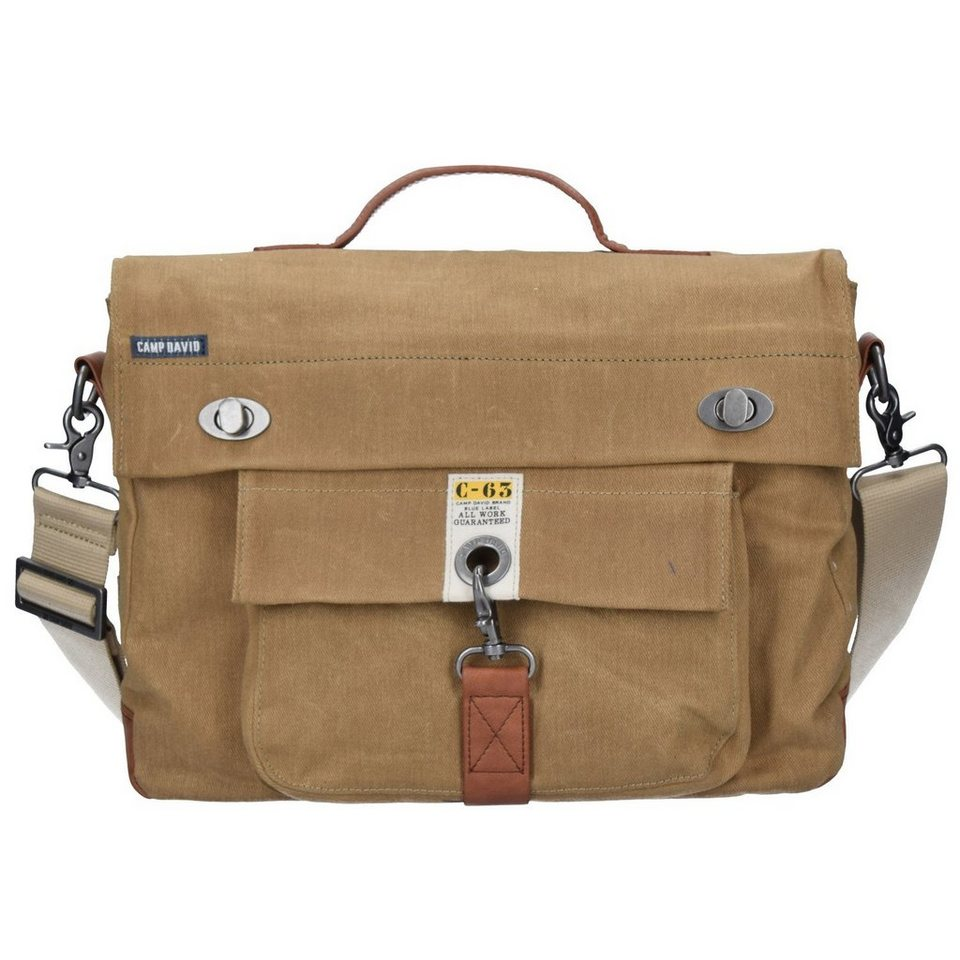 CAMP DAVID Old Harbor Messenger 37,5 cm Laptopfach in sand