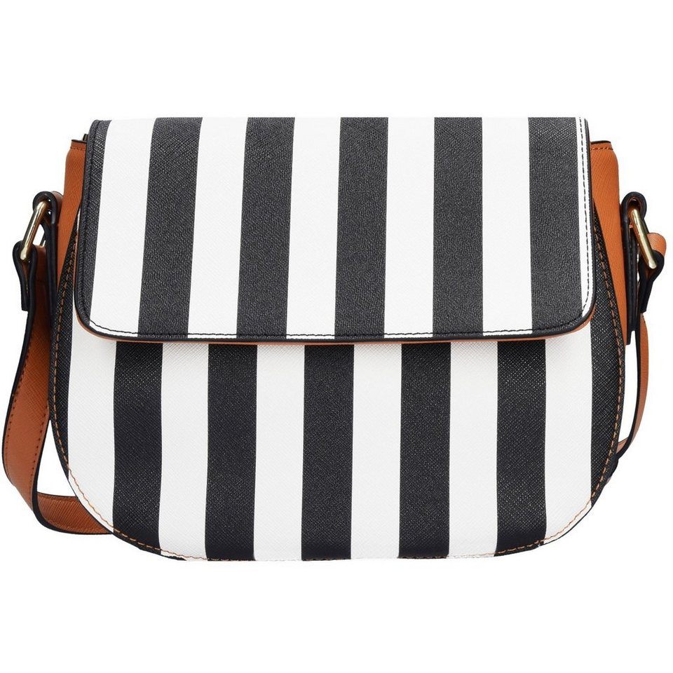 SANSIBAR Stripes Umhängetasche 25 cm in black
