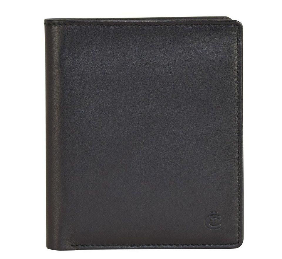 Esquire Compact Geldbörse Leder 9 cm in schwarz