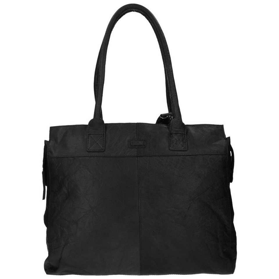 Spikes & Sparrow Bronco Shopper Tasche Leder 40,5 cm in black