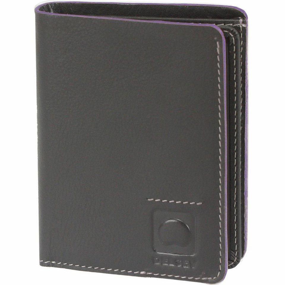 Delsey Aurore Geldbörse Leder 8,8 cm in schwarz