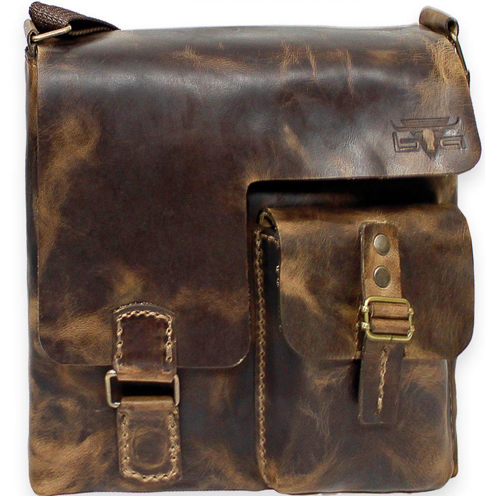 Mika Lederwaren Handtasche Umhängetasche I Leder 30 cm