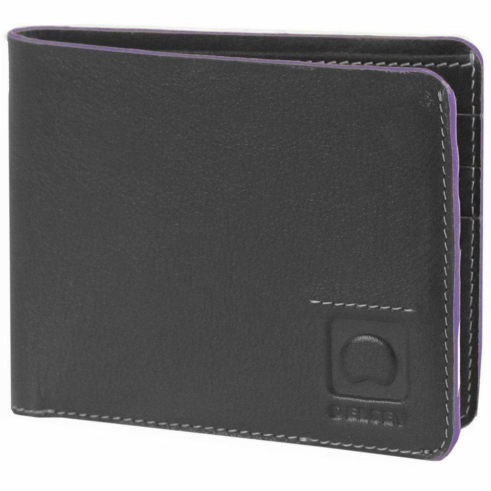 Delsey Delsey Aurore Geldbörse Leder 11,5 cm in schwarz