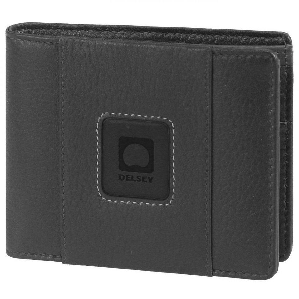 Delsey Palmarès Geldbörse Leder 11.5cm in schwarz