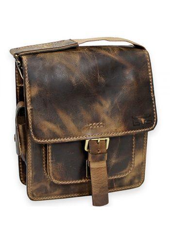 Damen Mika Lederwaren Handtasche Umhängetasche Leder 26 cm  | 04260308920561