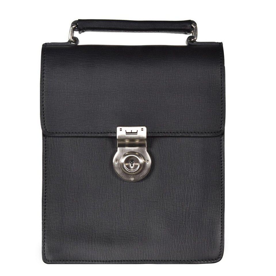 Leonhard Heyden Tradition Handtasche Leder 17 cm in schwarz