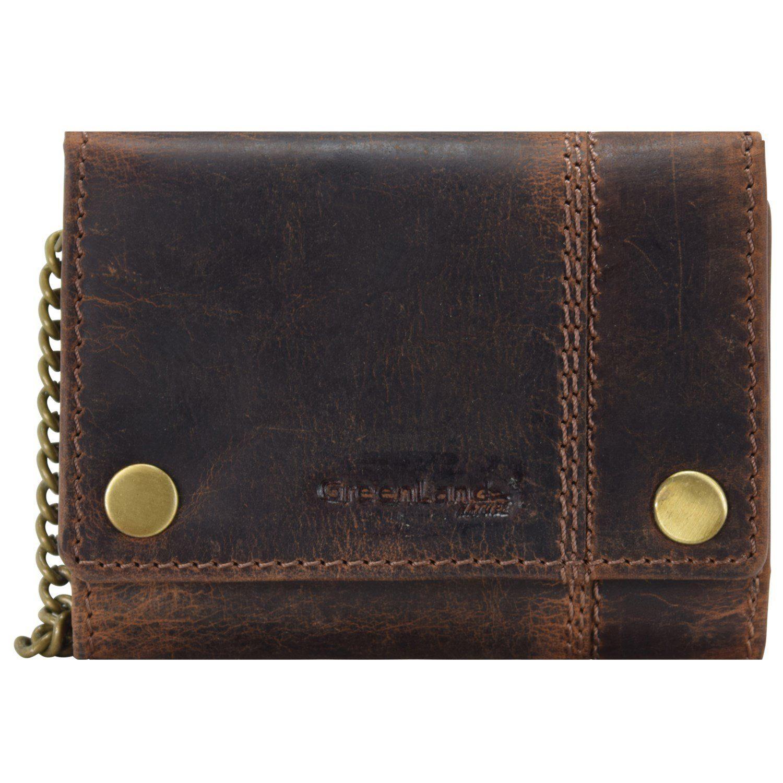 GREENLAND Classic Geldbörse Leder 12.5 cm