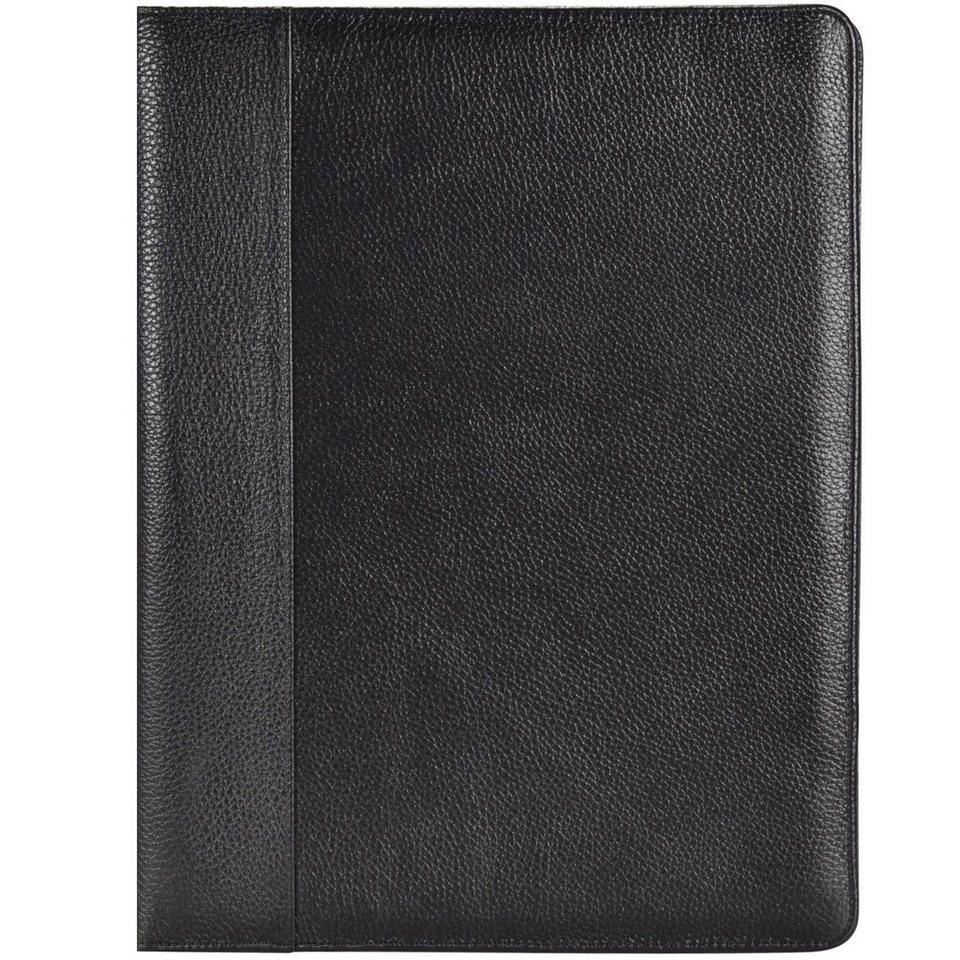 Dermata Dermata Schreibmappe Leder 32 cm in schwarz