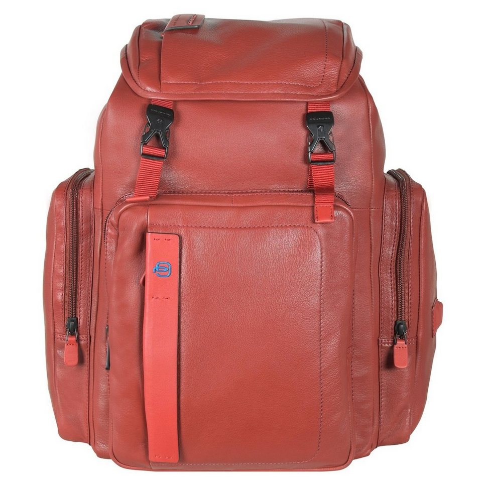 Piquadro Piquadro Pulse Business Rucksack Leder 45 cm Laptopfach in ziegel