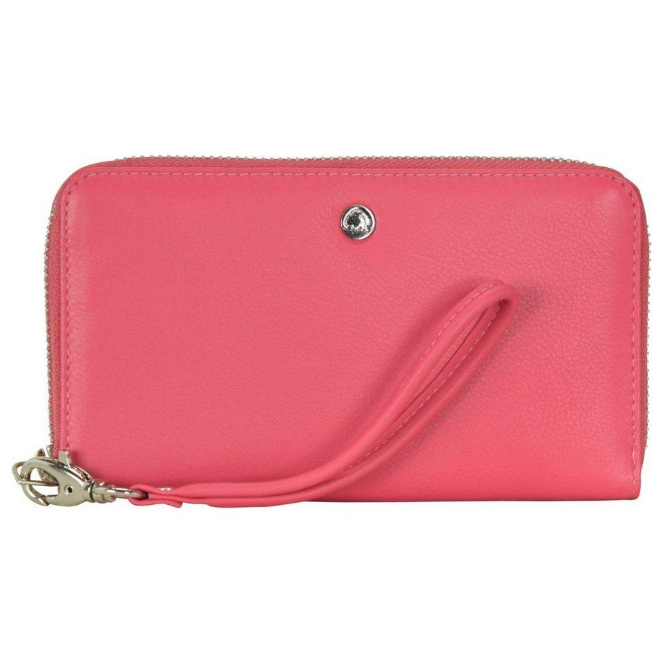Greenburry Greenburry Spongy Geldbörse Leder 17 cm Handyfach in pink