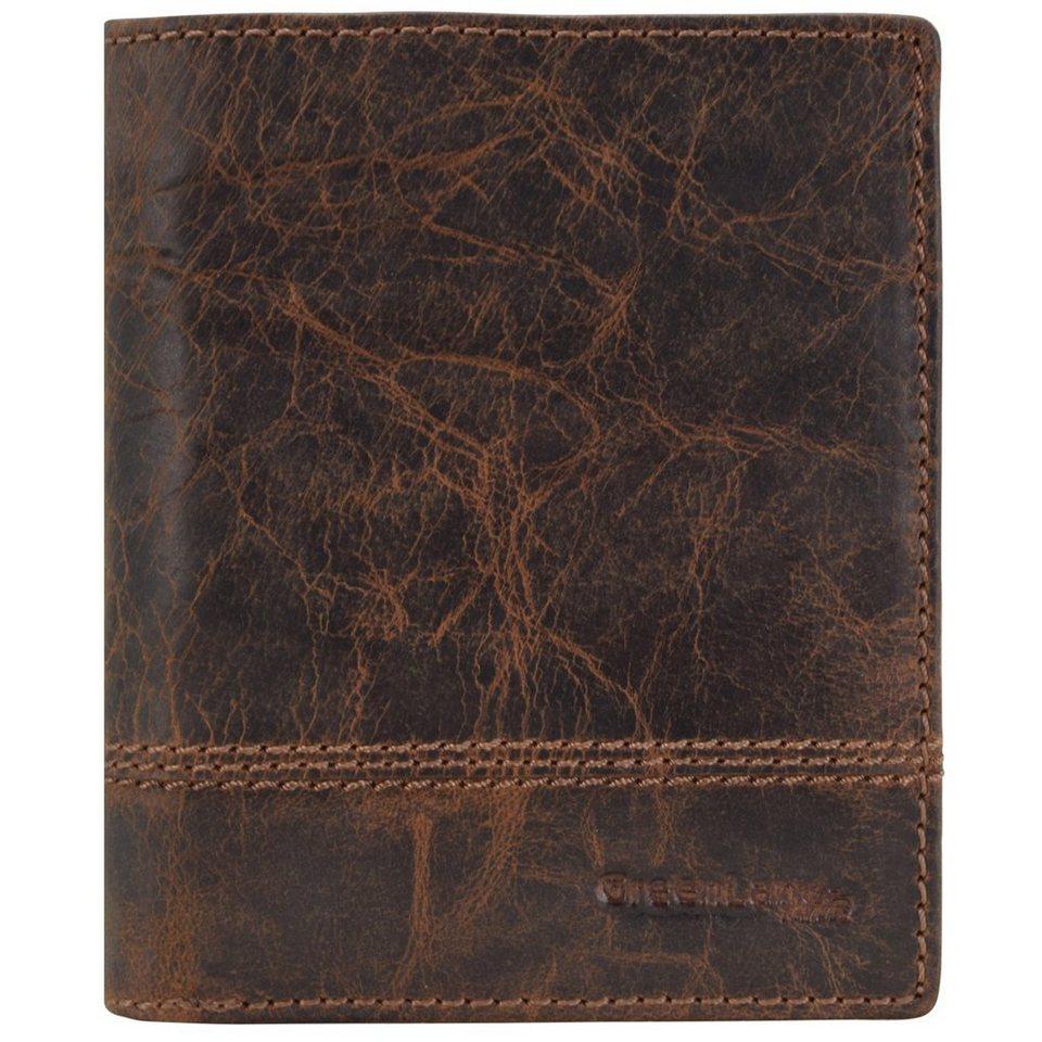 GREENLAND Classic Geldbörse Leder 10,5 cm in brown