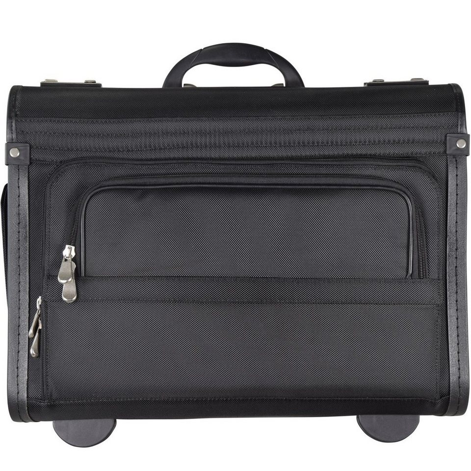Dermata Dermata Pilotenkoffer Trolley 46 cm Laptopfach in schwarz
