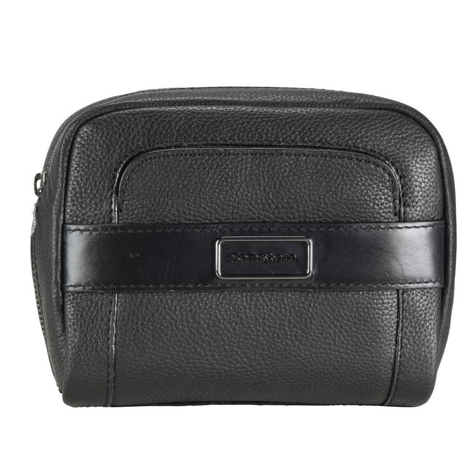 Samsonite Samsonite Tuxedo Cosmetic Case Cosmetic-Pouch Kulturtasche Leder in black