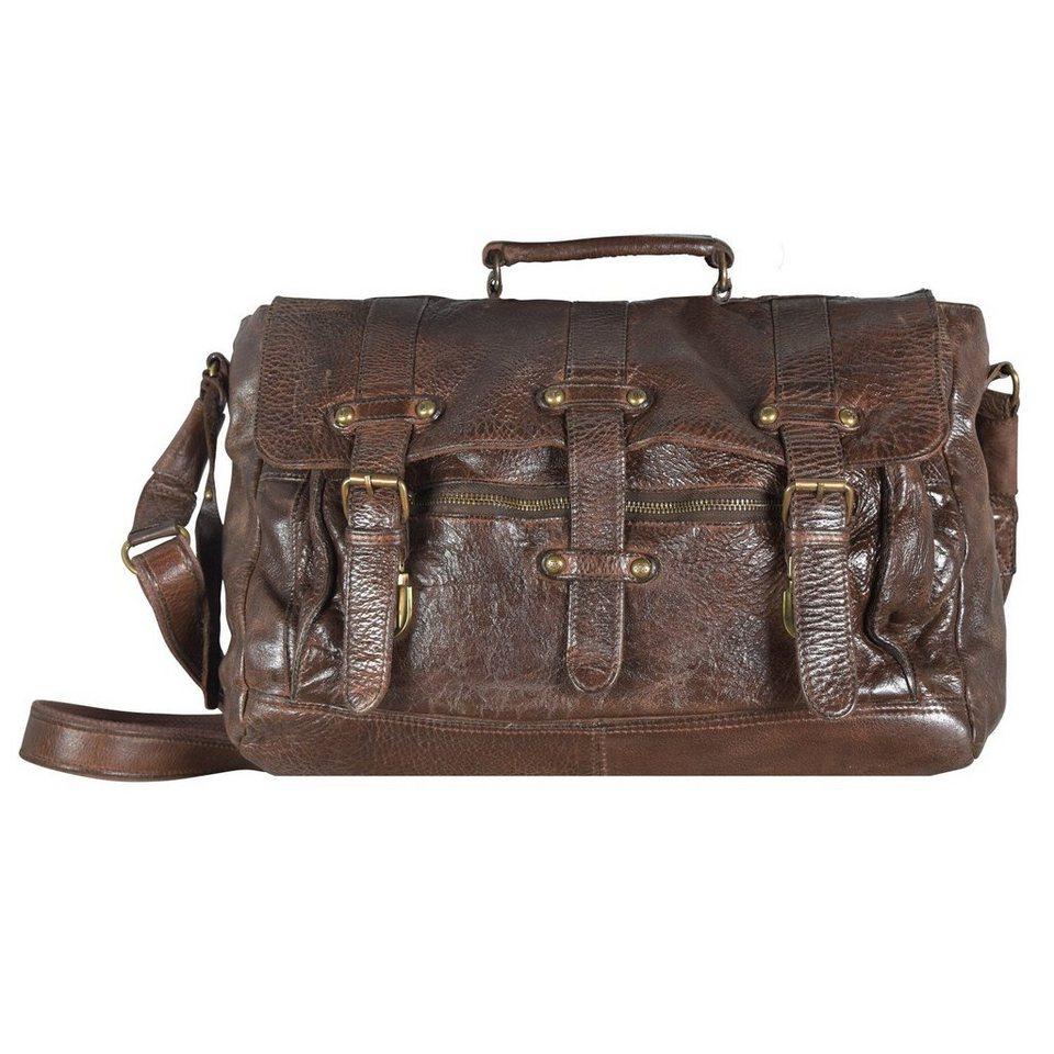 Billy the Kid Billy the Kid Daytona Messenger Bag Leder 38 cm in hazelnut
