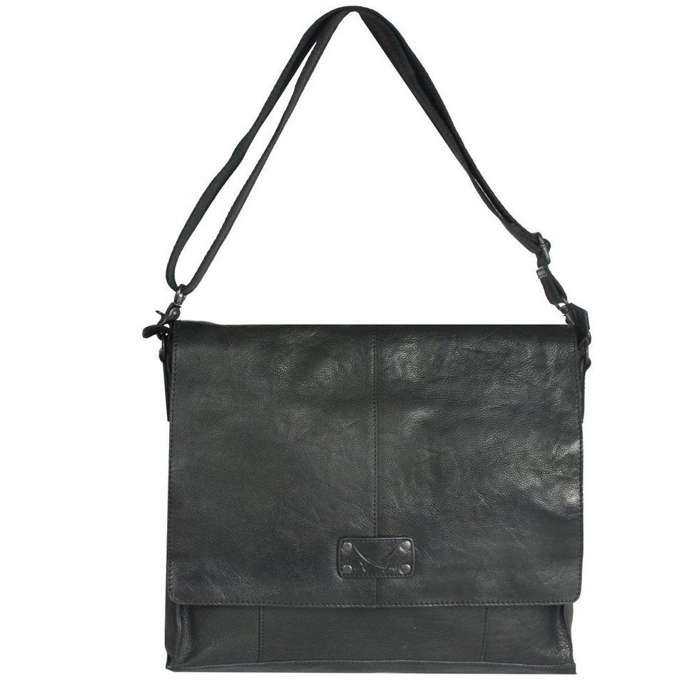 SANSIBAR Sula Umhängetasche Leder 33 cm in black