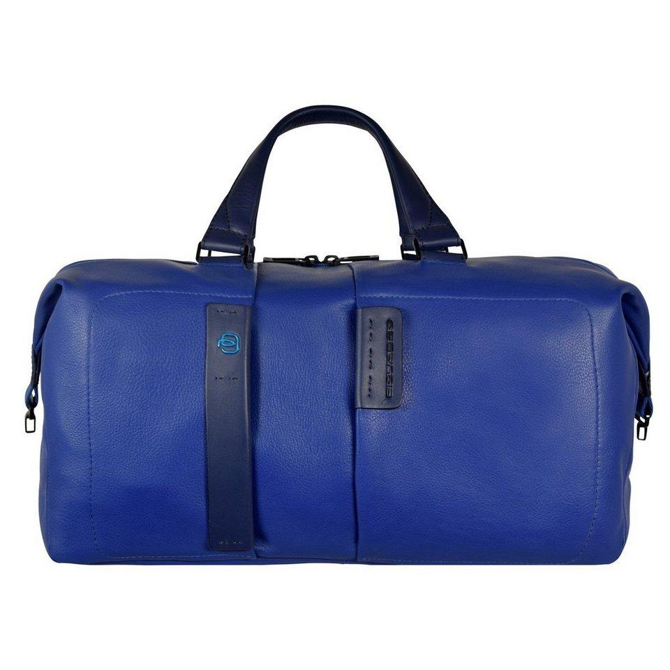 Piquadro Piquadro Pulse Reisetasche Weekender Leder 43 cm in electric blue