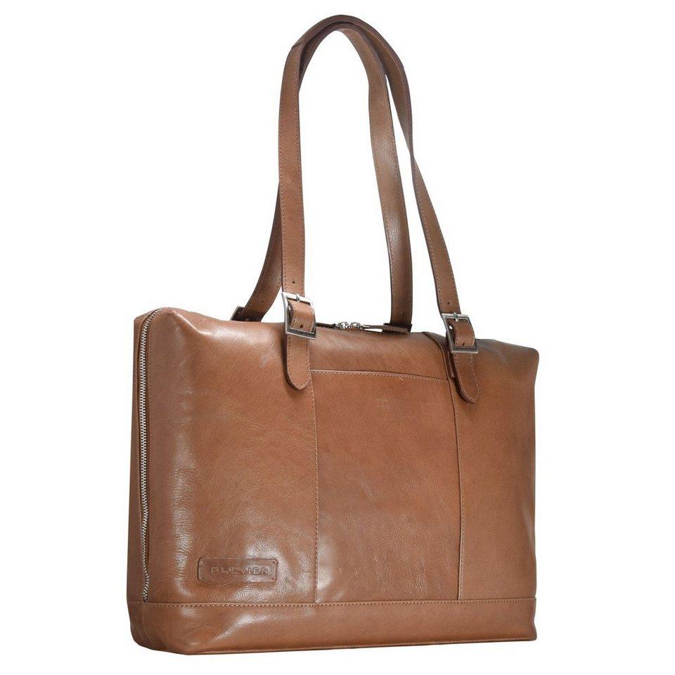 Plevier 800er Serie Business Shopper Tasche 42 cm Laptopfach in cognac