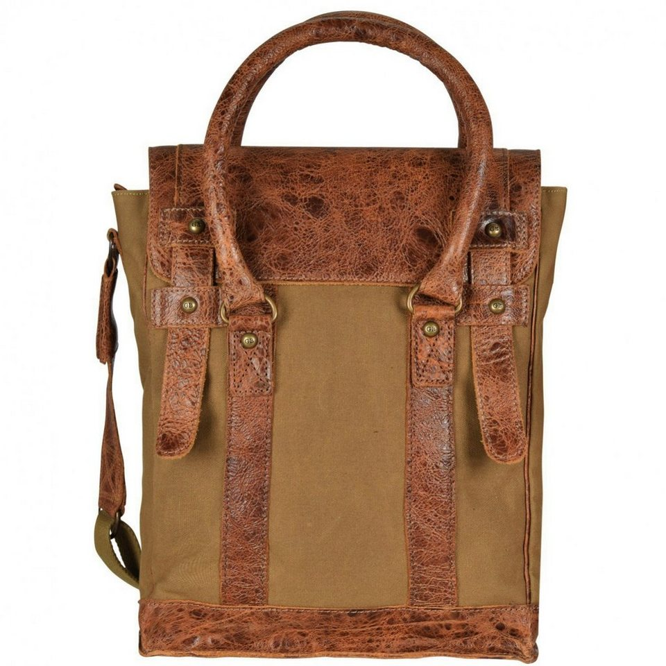 Greenburry Greenburry White Spirit Flathead II Handtasche 30 cm Tabletfach in olivbraun