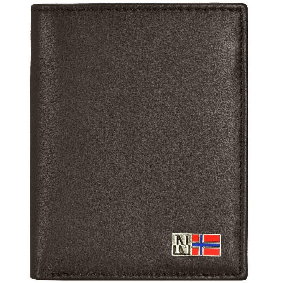 Napapijri Mandal Geldbörse Leder 10 cm in brown