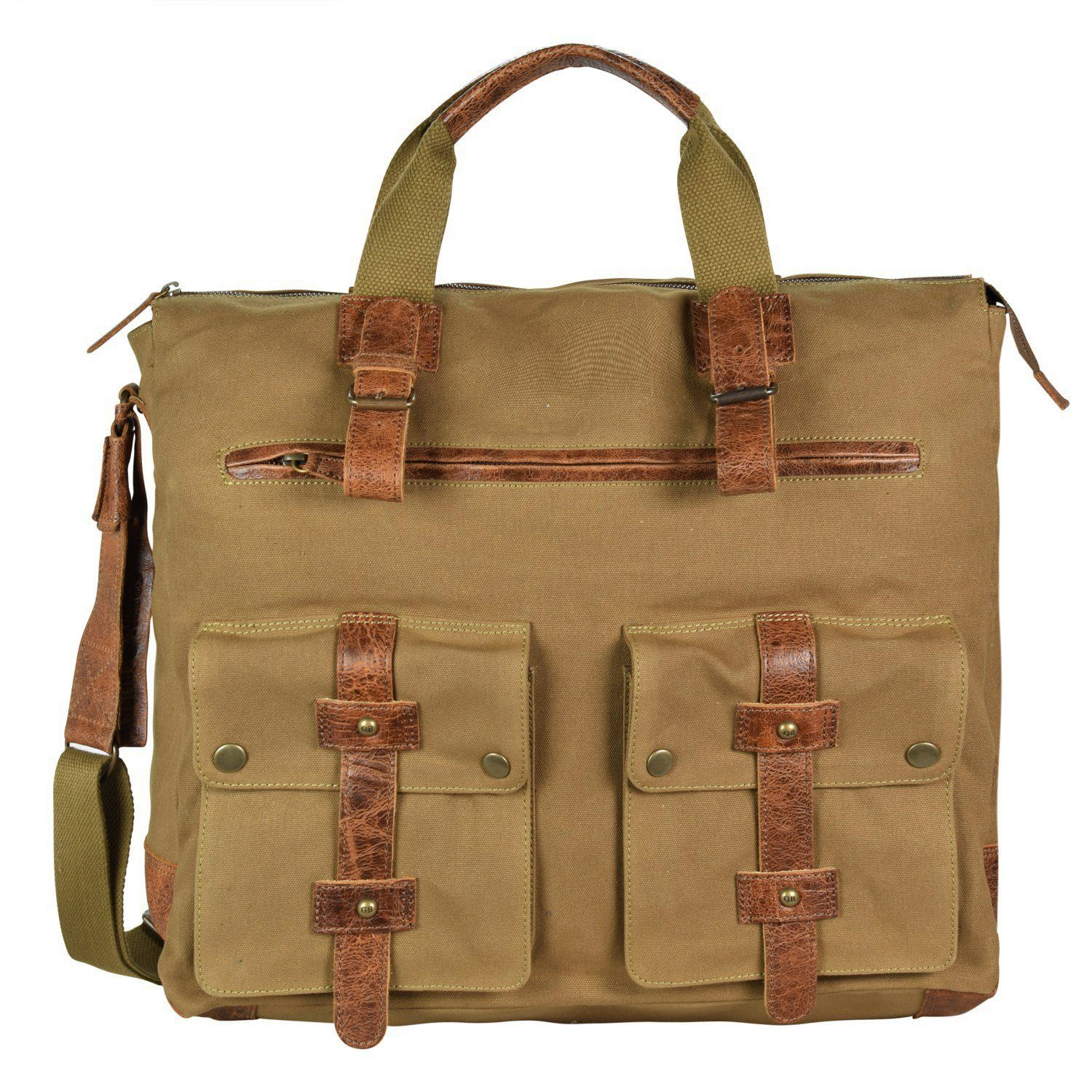 Greenburry White Spirit Fat Boy Handtasche 40 cm Laptopfach