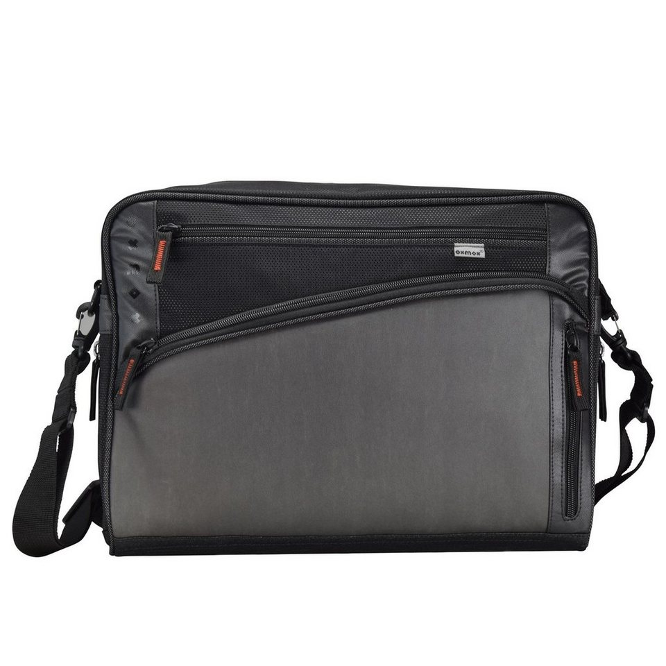 OXMOX Touch-It Umhängetasche 40 cm Laptopfach in grau